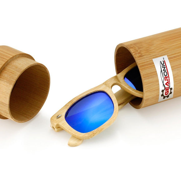 Polarized Genuine Bamboo Wood Vintage Handcraft Sunglasses - Zenith Solutions