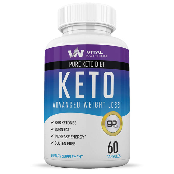 Pure Keto Diet Pills - Ketosis Supplement to Burn Fat Fast for Men and Women