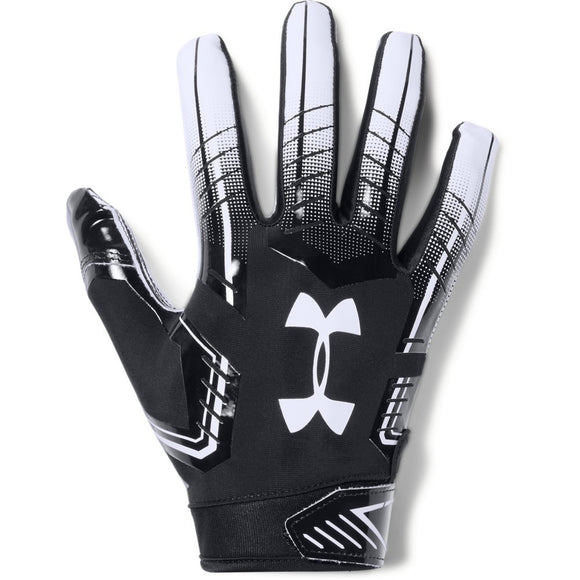 Under Armour mens F6 Football Gloves Black (001)/White Medium - Zenith Solutions
