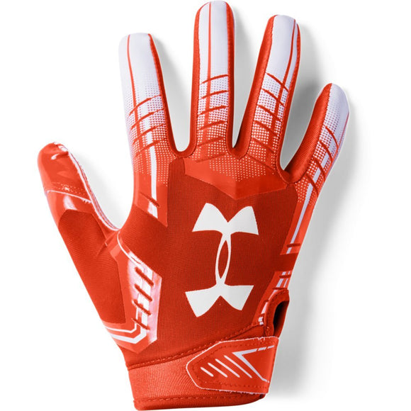 Under Armour boys F6 Youth Football Gloves Dark Orange (860)/White Youth Large - Zenith Solutions