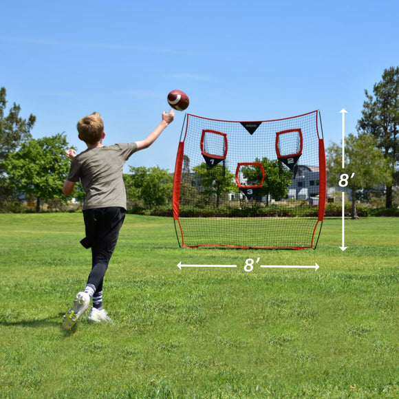 GoSports 8' x 8' Football Trainer Throwing Net | Improve QB Throwing Accuracy - Zenith Solutions