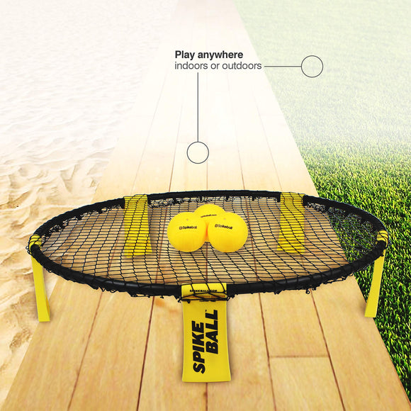 Spikeball Standard 3 Ball Kit - Includes Playing Net, 3 Balls, Drawstring Bag, Rule Book - Zenith Solutions