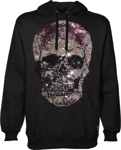 Purple Big Skull Pull Over Sweatshirt