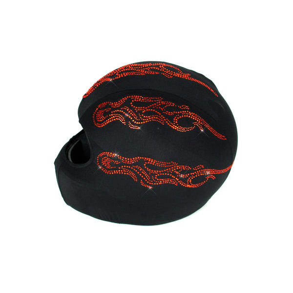 Helmetra Orange Flames Full Face Helmet Cover