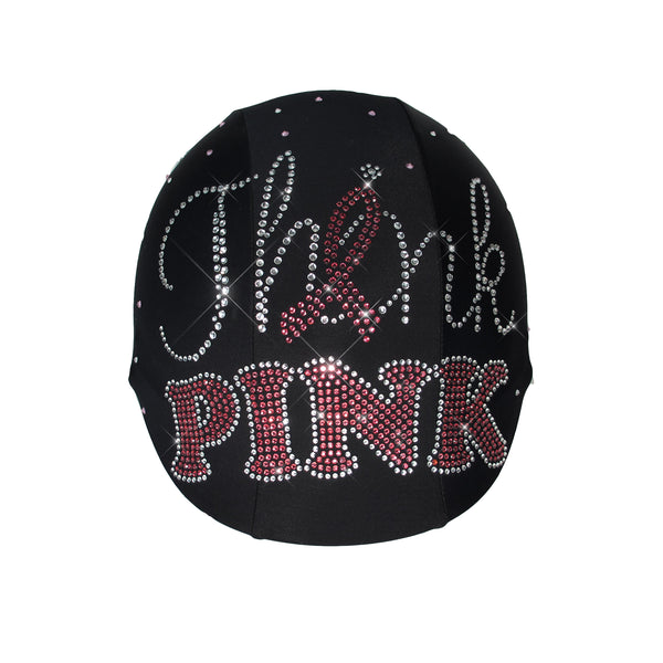 Think Pink Rhinestone Breast Cancer Awareness Month Custom Helmet Cover