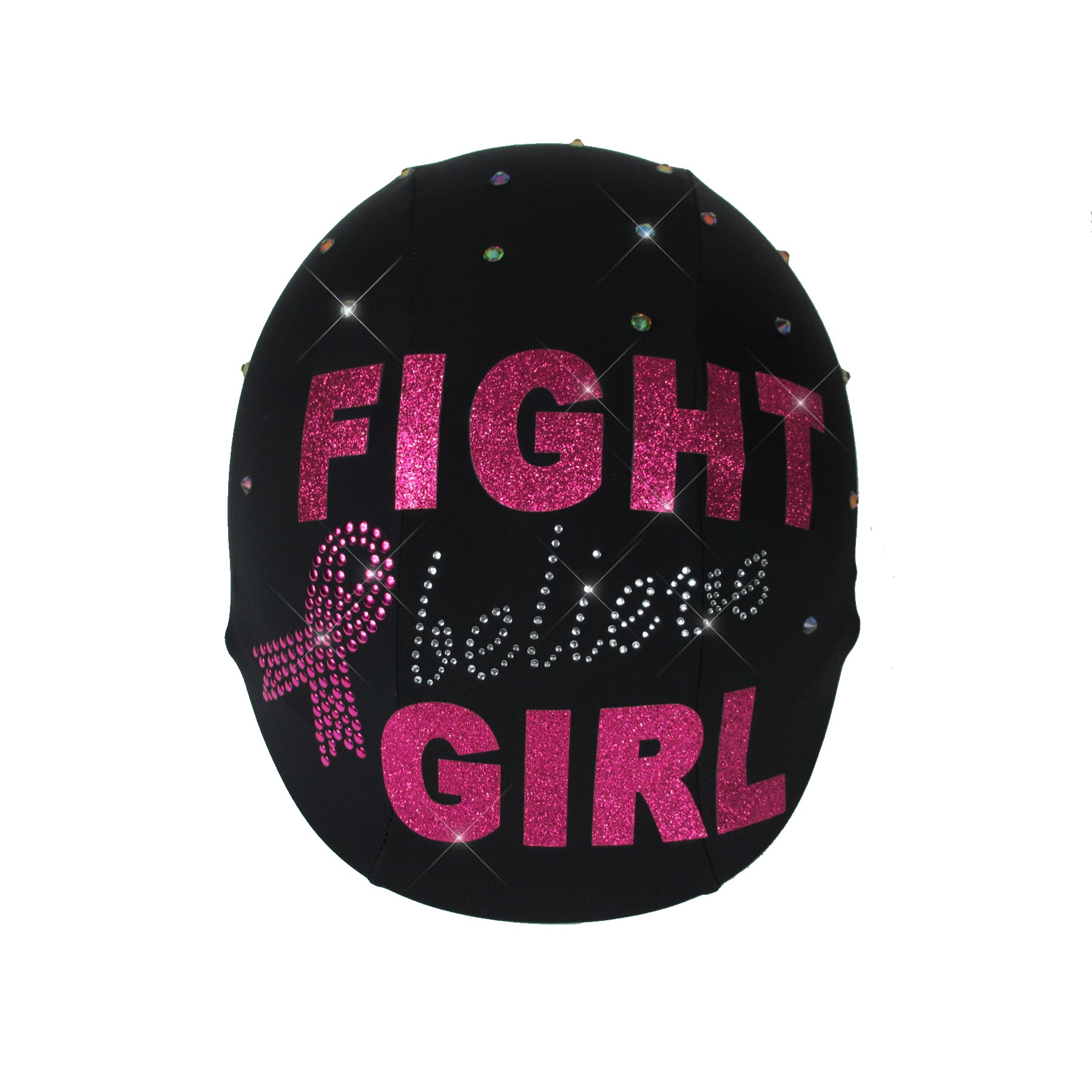 Fight Believe Girl Breast Cancer Awareness Month Custom Helmet Cover
