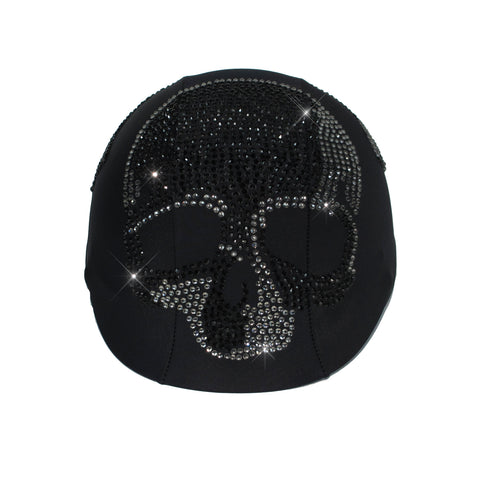 Helmetra Black Glass Skull Helmet Cover