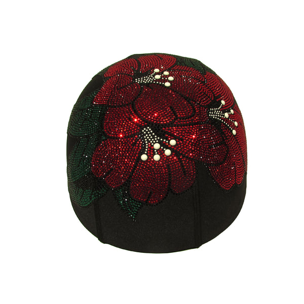 Helmetra Red Lillies Custom Helmet Cover