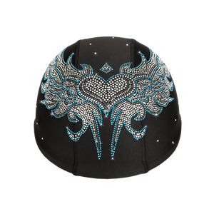 Helmetra Blue Tribal Wings Custom Helmet Cover