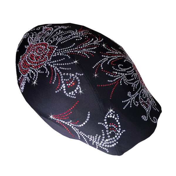 Helmetra Red Rose Custom Helmet Cover