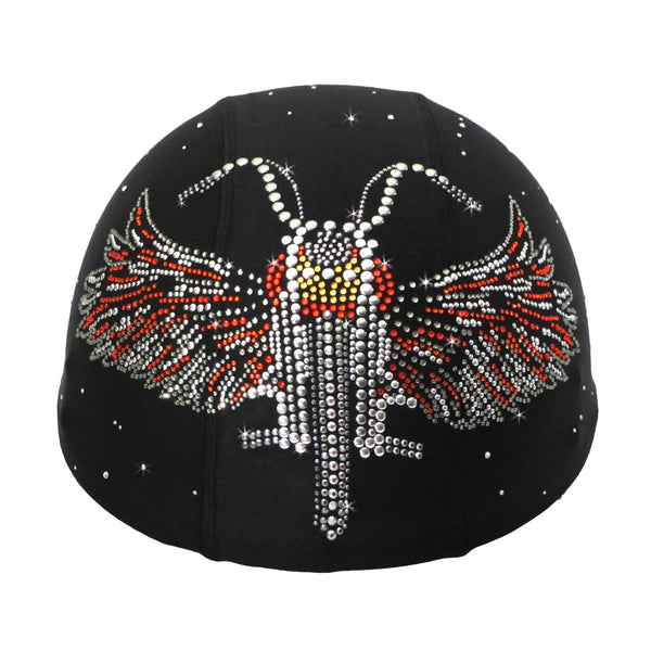 Helmetra Orange Bike Wings Custom Helmet Cover
