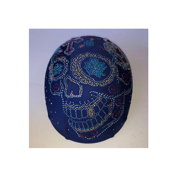 Blue skull blue custom helmet cover