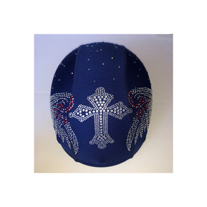 Cross wings blue custom helmet cover