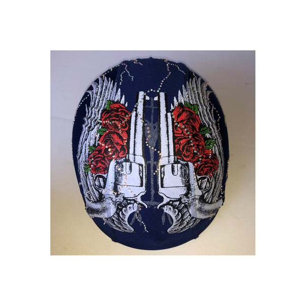 Gun and roses custom helmet cover