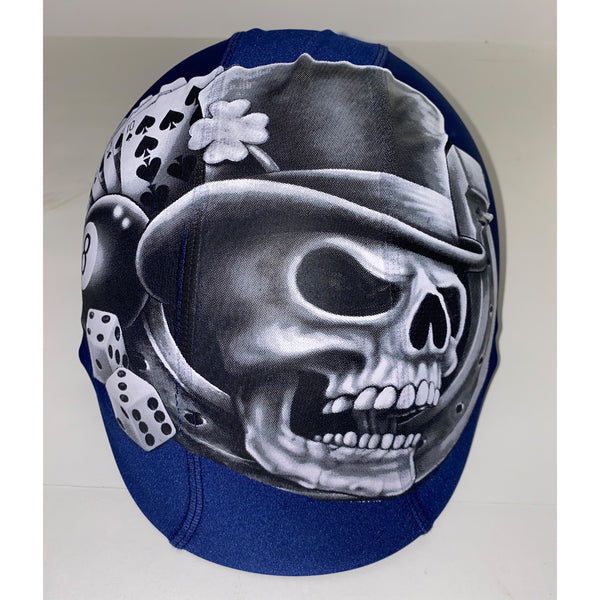 Decal death skull custom helmet cover