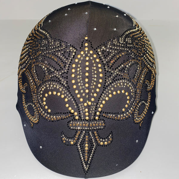Gold flour de lis custom helmet cover