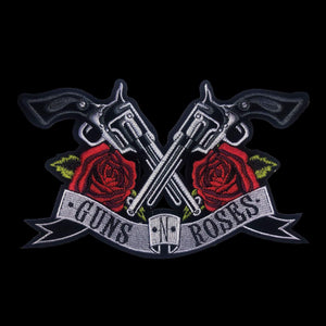 Gun and Roses Iron on Patch Heat Transfer