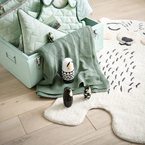 bear coton washable rug for baby room