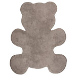 washable rug for baby room with teddy shape