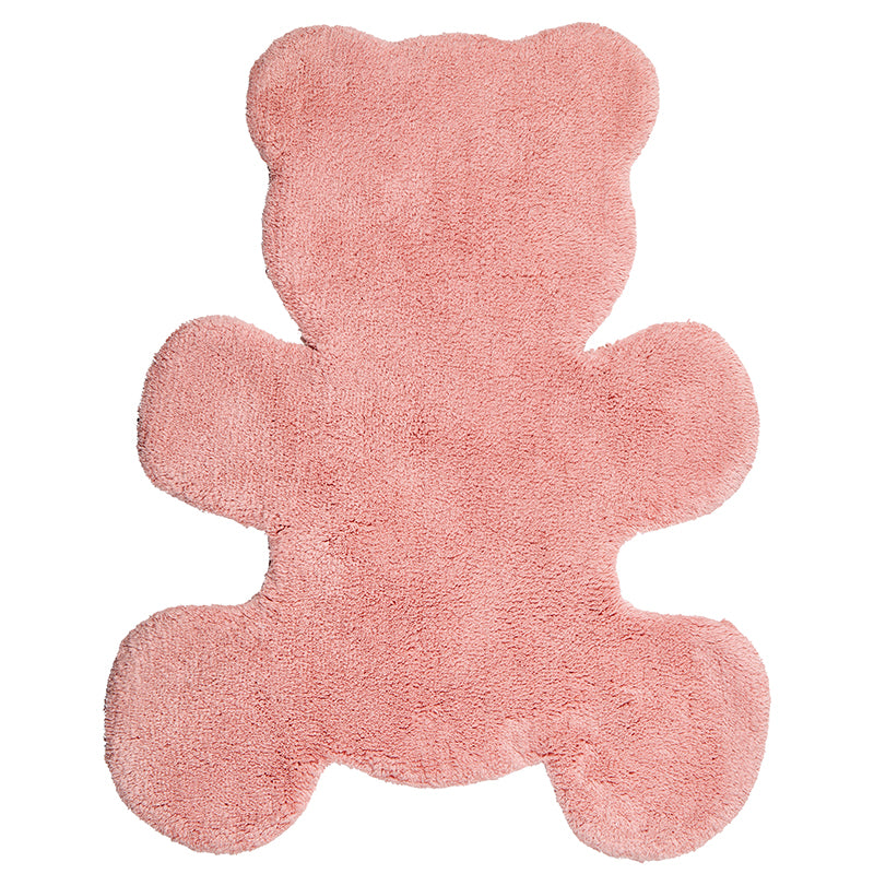 tapis bebe forme petit ours rose