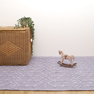 lilac cotton rug for kidsroom