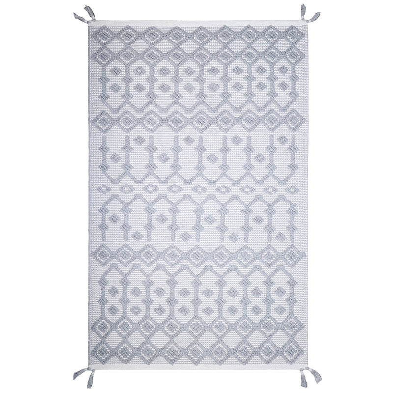 natural & grey cotton rug for kids room