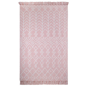 natural & pink rug for girls room