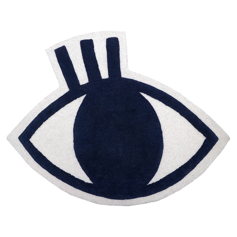 design rug with eye shape
