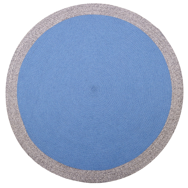 design wool rug natural & blue