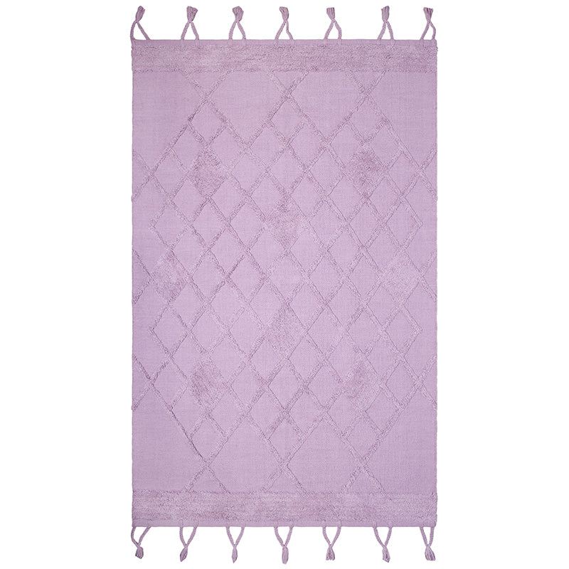 lilac cotton rug for girls room