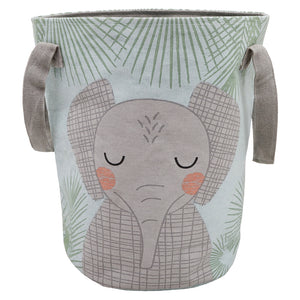 kids storage basket with elephant design