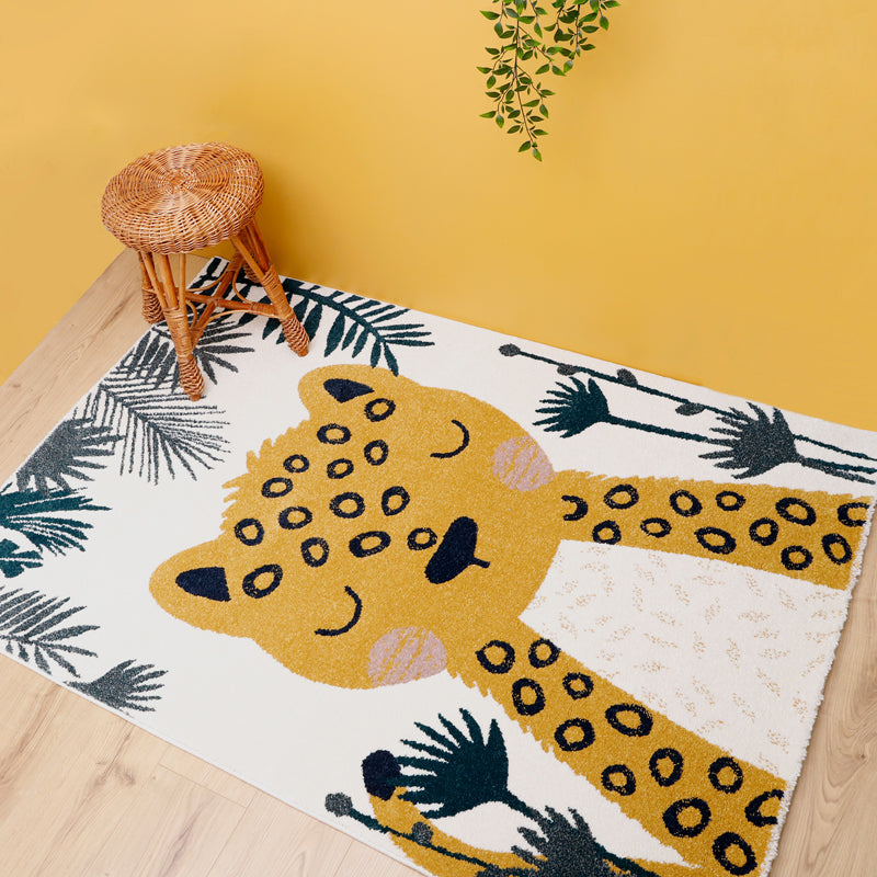 original leopard rug for kids room