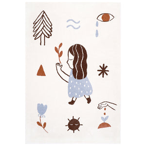 LOVE left by Marta Abad Blay tapis Enfant