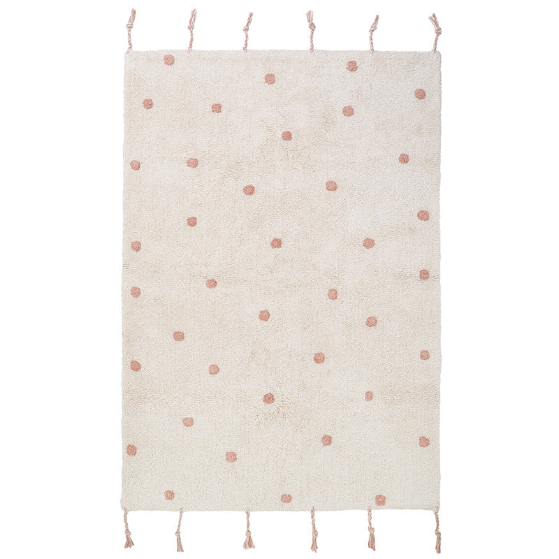 NÜMI Pink nude children's rug with dots