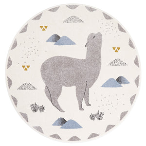 ANDINO ROND by MPA little llama children's rug