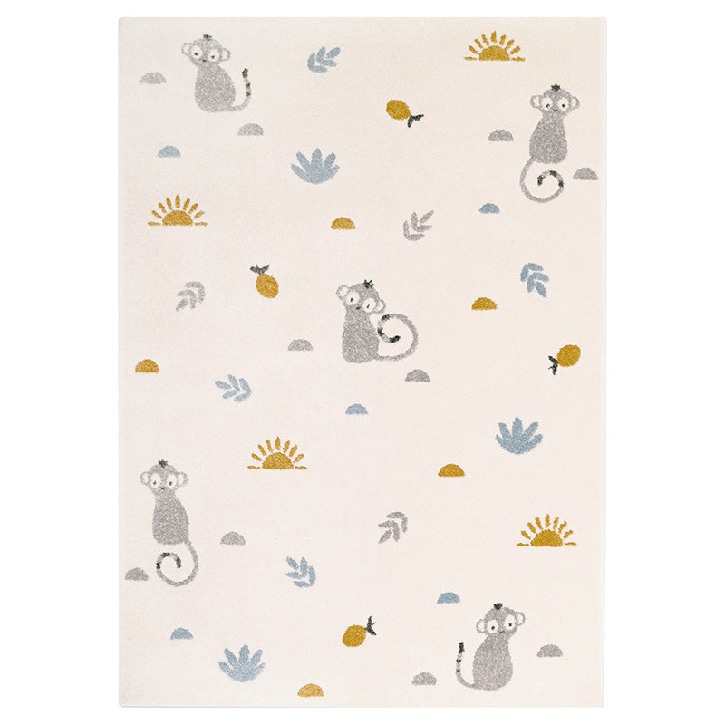 LITTLE WILD MONKEY MIEL tapis enfant