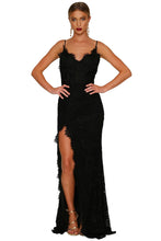Load image into Gallery viewer, Black Chic Lace Maxi Dress - MSCOOCO