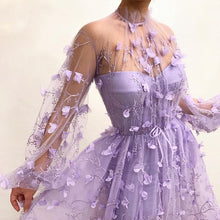 Load image into Gallery viewer, Fiesta Purple Lace Gown