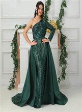 Load image into Gallery viewer, Delara Green Sequined Gown