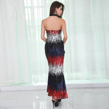 Load image into Gallery viewer, Gorgeous Sequin Backless Long Dress - MSCOOCO