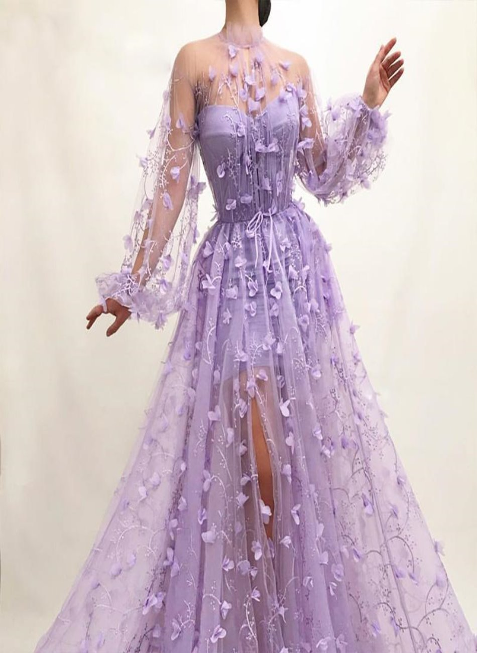 Fiesta Purple Lace Gown