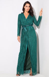Elegant Sequins Long Sleeve Dresses - MSCOOCO