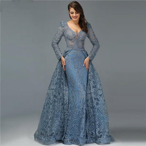Serena Luxe Crystal Evening Gown