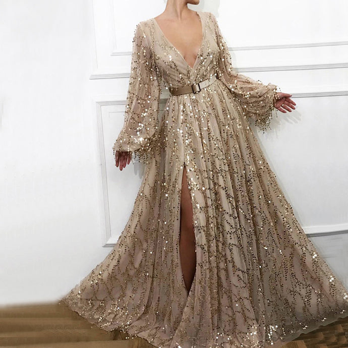 Dazzling Champagne Gown
