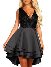 Load image into Gallery viewer, Heart Breaker Sequin Multi Layer Skater Dress - MSCOOCO