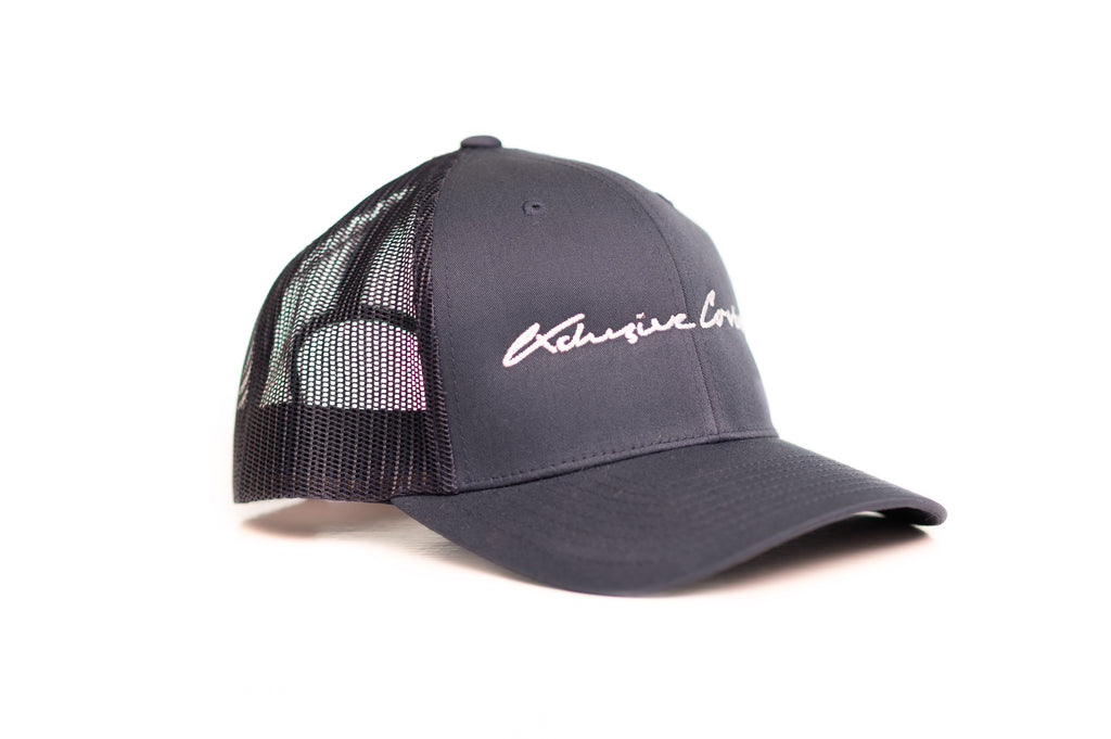 NAVY BLUE SIGNATURE MESH TRUCKER