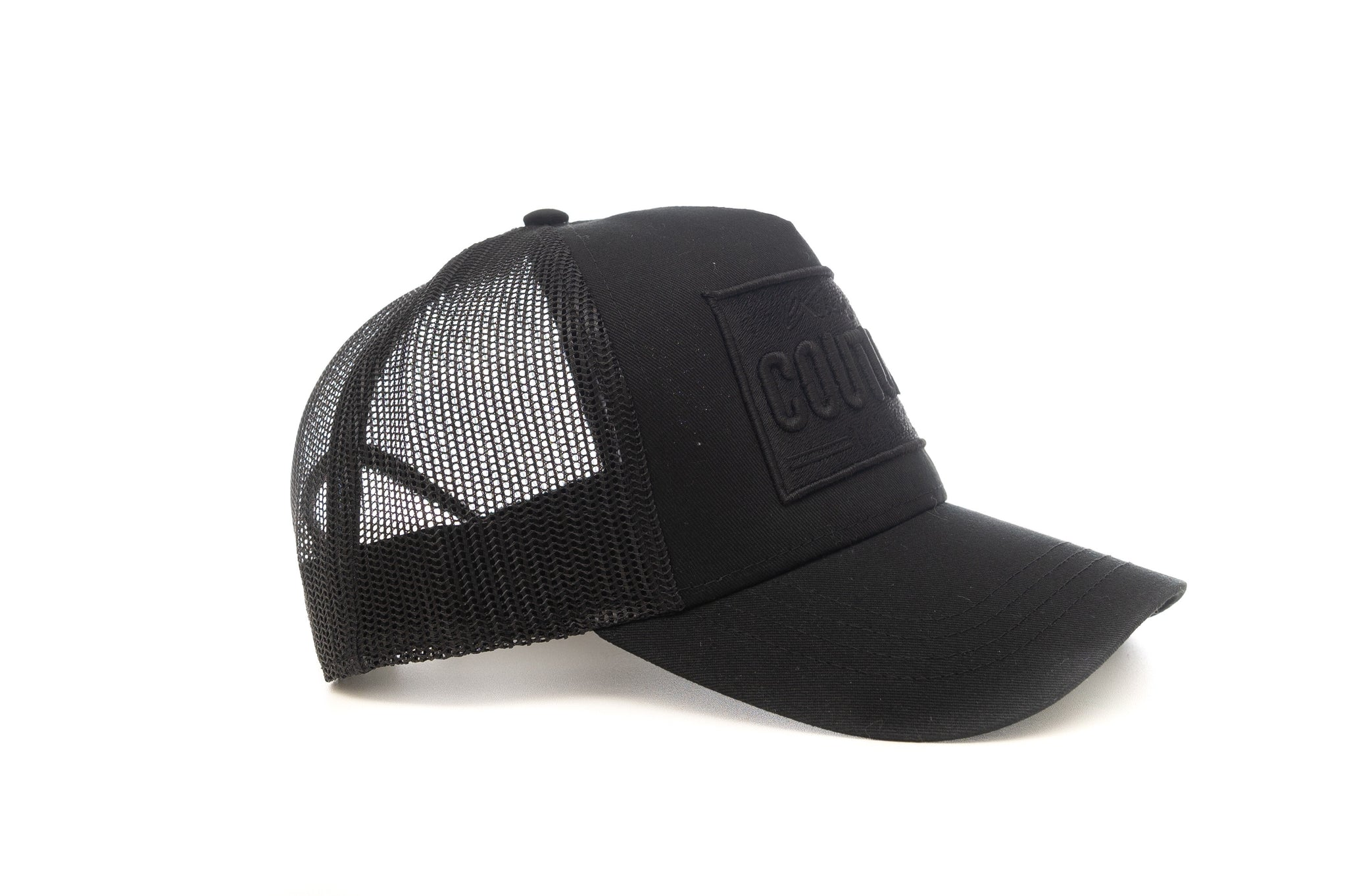 TRIPPLE BLACK LIMITED EDITION ICON PLATE MESH TRUCKER