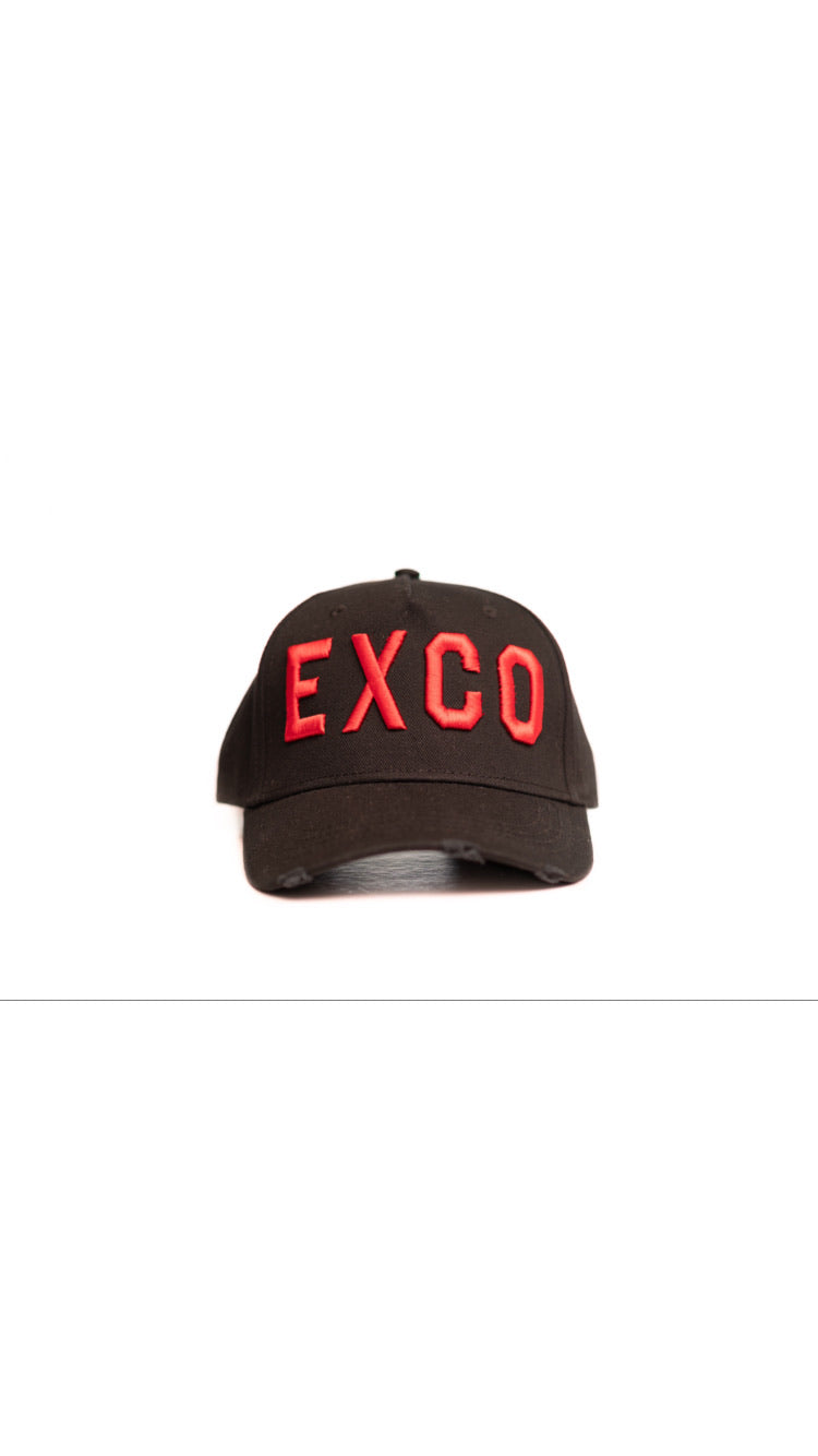 BLACK RED ICON BASEBALL CAP