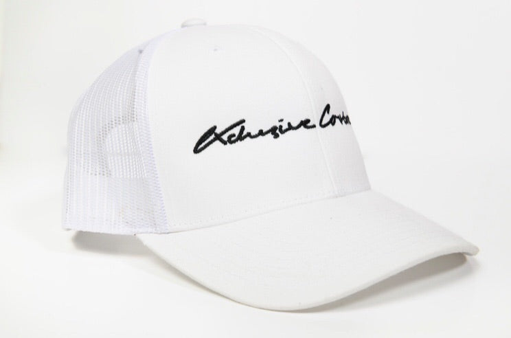 WHITE SIGNATURE MESH TRUCKER