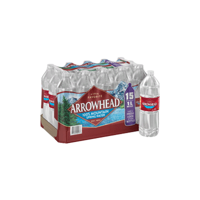 Spring Water - 1 liter Bottle, 15 pack
